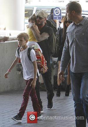 Harper Beckham, David Beckham, Victoria Beckham and Romeo Beckham