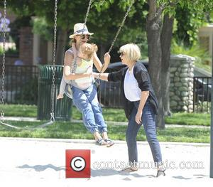 Jessica Alba, Haven Garner Warren and Catherine Jensen - Jessica Alba enjoys a day at the park with her mother...