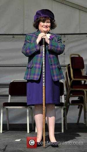 Susan Boyle - Susan Boyle is Chieftain of West Lothian Highland Games 2014. She led the march through the town...