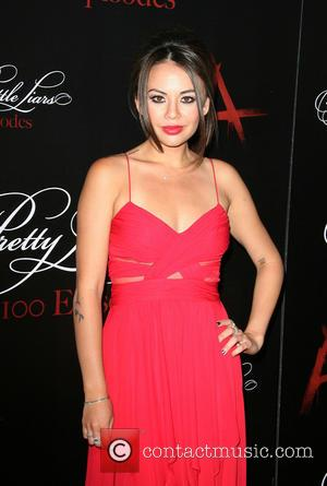 Janel Parrish - 'Pretty Little Liars' celebrates 100 episodes at W Hollywood Hotel Rooftop - Arrivals - Los Angeles, California,...