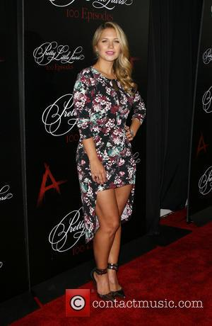 Vanessa Ray - 'Pretty Little Liars' celebrates 100 episodes at W Hollywood Hotel Rooftop - Arrivals - Los Angeles, California,...
