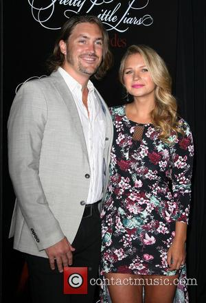 Vanessa Ray with boyfriend Troy Beard - 'Pretty Little Liars' celebrates 100 episodes at W Hollywood Hotel Rooftop - Arrivals...