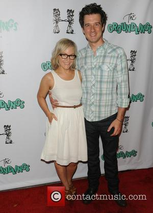 Rachael Harris and Christian Hable