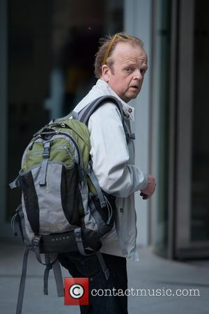 Toby Jones - Actor Toby Jones arriving at BBC Television Centre - London, United Kingdom - Sunday 1st June 2014