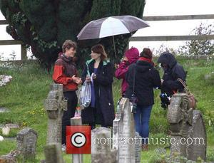 Jodie Whittaker - Actress Jodie Whittaker seen filming scenes for the upcoming second series of Broadchurch at St Andrew's church...