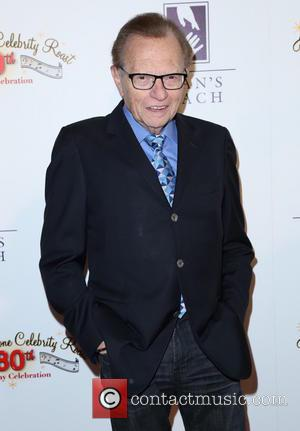 Larry King - Pat Boone's 80th birthday celebrity roast at The Beverly Hilton Hotel - Arrivals - Los Angeles, California,...