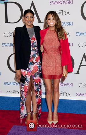 Rachel Roy and Christy Teigen - 2014 CFDA Fashion Awards held at Alice Tully Hall  - Arrivals - New...