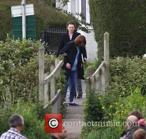 Olivia Colman and Jodie Whittaker - David Tennant, Olivia Colman and Jodie Whittaker seen filming scenes for the second series...