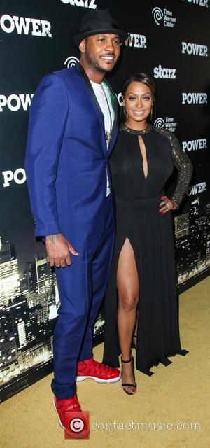 Carmelo Anthony and La La Anthony - The Starz 'Power' Premiere at the Highline Ballroom - Arrivals - New York,...