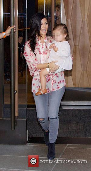 Kourtney Kardashian and Penelope Disick - Kourtney Kardashian leaving a hotel with her daughter Penelope - New York City, New...