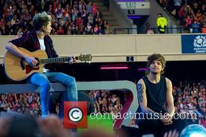 One Direction, LouisTomlinson and Niall Horan - One Direction perform in Edinburgh tonight as part of their 'Where We Are...