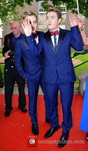 Jedward - Pride of Ireland Awards 2014 at The Mansion House - Arrivals - Dublin, Ireland - Tuesday 3rd June...