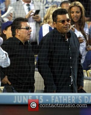 George Lopez - Celebrities attend the Los Angeles Dodgers v Chicago White Sox baseball game at Dodger Stadium. The White...