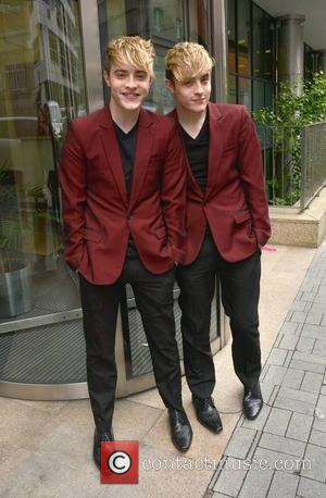 Jedward, John Grimes and Edward Grimes - Jedward at Today FM's Ray Darcy Show to promote their new album 'Free...