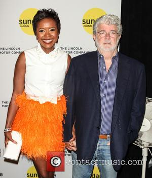 Mellody Hobson and George Lucas - Sundance Institute Vanguard Leadership Award at Stage 37 - New York, New York, United...