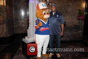 Dougout and Bernie Williams