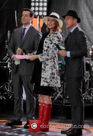 Carson Daly, Savannah Guthrie and Matt Lauer