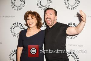 Joy Behar and Ricky Gervais
