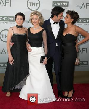 Jane Fonda, Vanessa Vadim, Troy Garity and Simone Garity