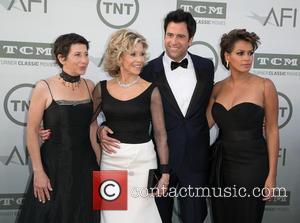 Vanessa Vadim, Jane Fonda, Troy Garity and Simone Garity