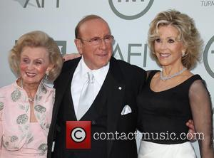 Barbara Davis, Clive Davis and Jane Fonda
