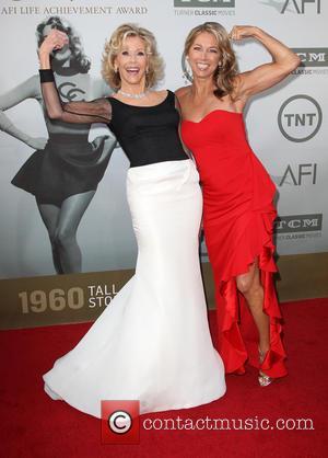 Jane Fonda and Denise Austin - American Film Institute's (AFI) 42nd Annual Life Achievement Award honoring Jane Fonda at The...