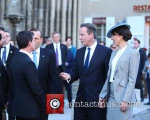 David Cameron, Samantha Cameron and Manuel Valls