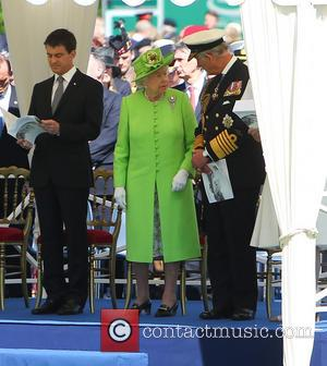 Prince Charles, Hrh Queen Elizabeth 2 and Manuel Valls