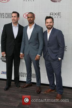 Rob Riggle, Damon Wayans Jr. and Jake Johnson - Spike TV's 'Guys Choice' 2014 at Sony Pictures Studios - Arrivals...