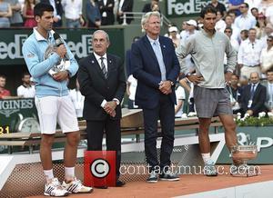Novak Djokovic, Jean Gachassin, Bjorn Borg and Rafael Nadal - Roland Garros - The 2014 French Open: Men's Singles Final...