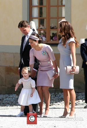 Duchess of Gotland, Princess Estelle, Patrick Sommerlath, Princess Victoria of Sweden and Louise Gottlieb - Princess Leonore's Royal Christening at...