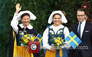 Queen Silvia Of Sweden, Crown Princess Victoria Of Sweden and Prince Daniel Of Sweden