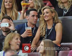 Catherine Tyldesley and Tom Pitford - UNICEF UK Soccer Aid 2014 held at Old Trafford - Manchester, United Kingdom -...