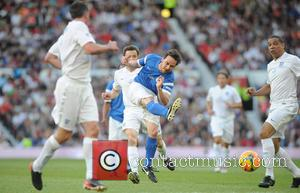 James McAvoy and Des Waker - Soccer Aid at Old Trafford Manchester, UK - Manchester, United Kingdom - Sunday 8th...