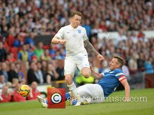 Danny Jones and Gordon Ramsay - Soccer Aid 2014 at Old Trafford - Manchester, United Kingdom - Sunday 8th June...