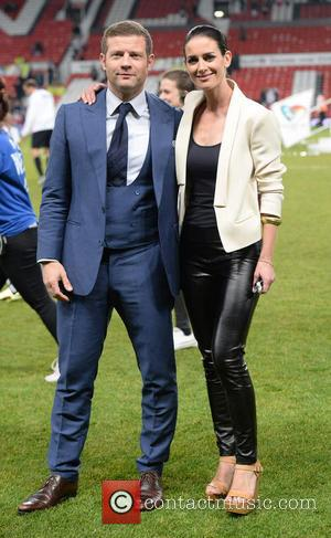 Dermot Oleary and Kirsty Gallacher - Soccer Aid 2014 at Old Trafford - Manchester, United Kingdom - Sunday 8th June...