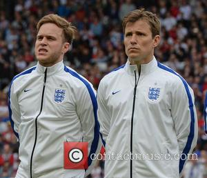 Olly Murs and Ben Shephard - Soccer Aid 2014 at Old Trafford - Manchester, United Kingdom - Sunday 8th June...