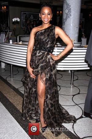 Anika Noni Rose wearing Badgley Mischka - The 68th Annual Tony Awards After Party held at the Plaza Hotel. -...