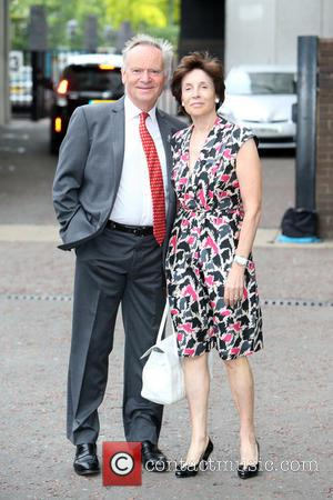 Jeffrey Archer and wife - Lord Jeffrey Archer and wife outside ITV Studios - London, United Kingdom - Monday 9th...