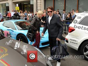 Jonathan Ross Harvey Kirby Ross - Jonathan Ross and his son Harvey are pictured leaving London for the Gumball 3000...