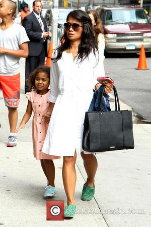 Sonal Chappelle and Elaine Chappelle - Celebrities outside the Ed Sullivan Theater for their taping on the Late Show with...