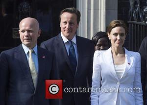 William Hague, Angelina Jolie and David Cameron