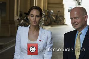 Angelina Jolie and William Hague - US actress Angelina Jolie visits Downing Street after attending a conference on sexual violence...