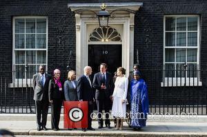 Angelina Jolie, William Hague and David Cameron