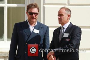 Simon Le Bon - Catherine, Duchess of Cambridge attends the launch of the British America's Cup boat in Greenwich -...
