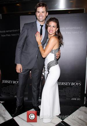 Andrew Rannells and Renee Marino - Jersey Boys New York Special Screening held at the Paris Theatre - Arrivals. -...