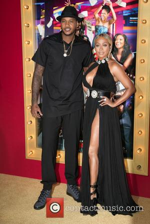 Carmelo Anthony and La La Anthony - Celebrities attend \Think Like A Man Too\ - Los Angeles Premiere at TCL...
