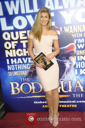 Amy Willerton - The Bodyguard cast change VIP night at the Adelphi Theatre, The Strand - London, United Kingdom -...