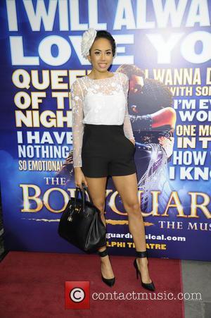 Jade Ewen - The Bodyguard cast change VIP night at the Adelphi Theatre, The Strand - London, United Kingdom -...