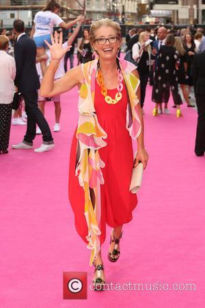 Emma Thompson - Walking on Sunshine UK premiere held at the Vue cinema - Arrivals - London, United Kingdom -...